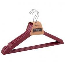 SPRINGOS Drevené vešiaky na šaty - 3 ks - červené