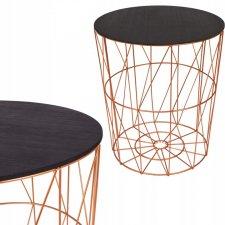 SPRINGOS drôtený konferenčný stolík 45cm - medený