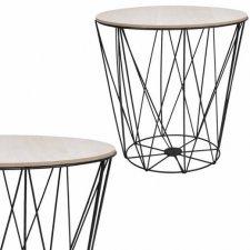 SPRINGOS drôtený konferenčný stolík Vintage 30cm - čierny