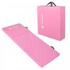 SPRINGOS Fitness gymnastická podložka skladaná 180cm - ružová