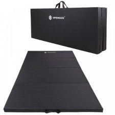 SPRINGOS Fitness gymnastická podložka skladaná 240cm - čierna