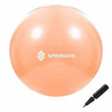 SPRINGOS Fitness lopta - 55cm - oranžová