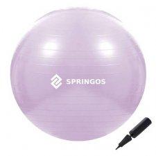 SPRINGOS Fitness lopta - 65cm - fialová
