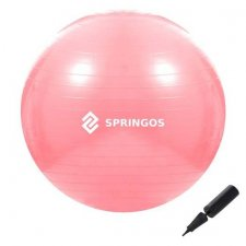 SPRINGOS Fitness lopta - 75cm - Ružová