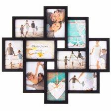 SPRINGOS Fotorámik na 10 fotografií multiframe 10x15 - čierny