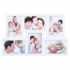 SPRINGOS Fotorámik na 6 fotografií multiframe 10x15 - biely