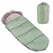 SPRINGOS Fusak Luxury s kožušinou 4v1 - 90cm - zelený