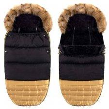 SPRINGOS Fusak Luxury s kožušinou 4v1 - Čierno-zlatý