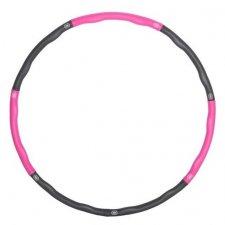 SPRINGOS Hula hop Clasic masážny sivo-ružový - 83cm