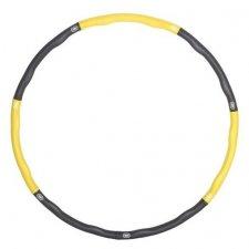 SPRINGOS Hula hop Clasic masážny sivo-žltý - 83cm