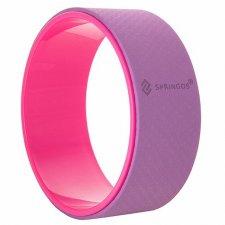 SPRINGOS Joga Pilates koleso ružové-fialové - 33cm