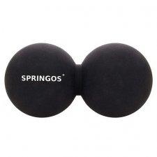 SPRINGOS Lakrosová masážna loptička dvojitá 6,5 cm - čierna