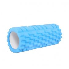 SPRINGOS Masážny valec CROSSFIT FOAM ROLLER 33 x 14 cm - svetlo modrý