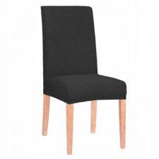 SPRINGOS Návlek na stoličku univerzálny - čierna mriežka