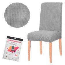SPRINGOS Návlek na stoličku univerzálny - sivá mriežka
