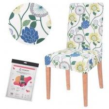 SPRINGOS Návlek na stoličku univerzálny - svetlé kvety