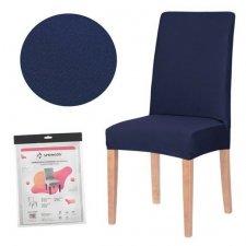 SPRINGOS Návlek na stoličku univerzálny - tmavo modrý