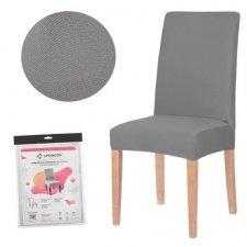SPRINGOS Návlek na stoličku univerzálny - tmavo sivý