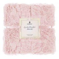 SPRINGOS Obojstranná vlnená deka 200x220cm - ružová