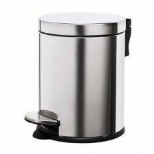 SPRINGOS Odpadkový kôš oceľový - strieborný - 5L