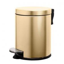 SPRINGOS Odpadkový kôš oceľový - zlatý - 5L