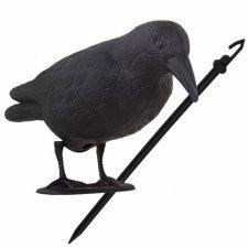SPRINGOS Odpudzovač plašič vtákov stojaca vrana -11x39x18,5cm čierna