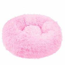 SPRINGOS Pelech pre psa a mačky plyšový 80cm - tmavo ružový