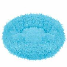 SPRINGOS Pelech pre psa a mačky plyšový 90cm - modrý