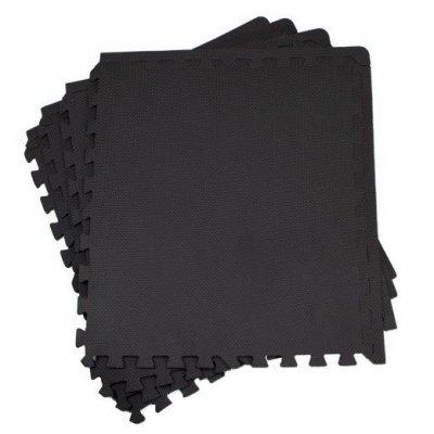 Springos penové puzzle 60 x 60 x 2 cm - 4 ks - čierne
