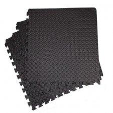 Springos penové puzzle protišmykové 60 x 60 x 1,2 cm - 4 ks - čierne