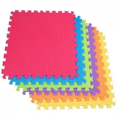 Springos penové puzzle 60 x 60 x 1 cm - 6 ks - farebné