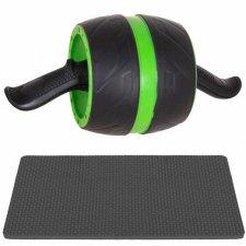 SPRINGOS Posilňovacie koliesko s podložkou na kolená - čierno-zelené