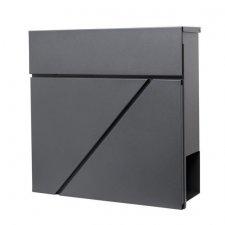 SPRINGOS Poštová schránka na listy a noviny Modern antracitová matná - 37x37x10,5cm