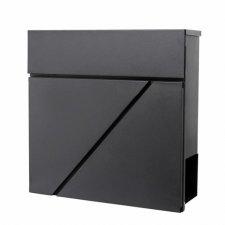 SPRINGOS Poštová schránka na listy a noviny Modern čierna matná - 37x37x10,5cm