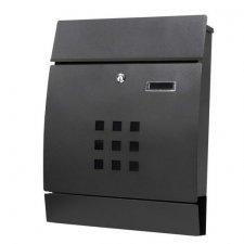 SPRINGOS Poštová schránka na listy a noviny oblúková čierna matná - 44x35x10,5cm