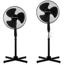 SPRINGOS Stojanový ventilátor - 45 cm - 40 W - čierny