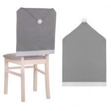 SPRINGOS Sviatočný návlek na stoličku - sivá čiapka