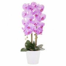 SPRINGOS Umelá orchidea v črepníku fialová - 70cm