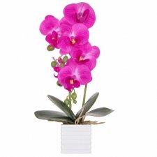 SPRINGOS Umelá orchidea v črepníku ružová - 37cm