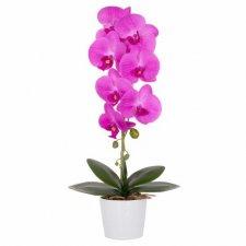 SPRINGOS Umelá orchidea v črepníku ružová - 57cm