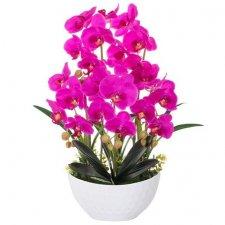 SPRINGOS Umelá orchidea v črepníku ružová - 60cm