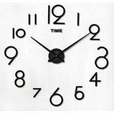 Svietiace hodiny čierne: Číslice  50-60cm