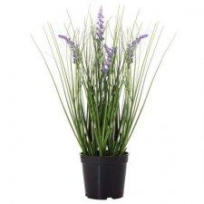 Umelá tráva v črepníku 40 cm: Levanduľa