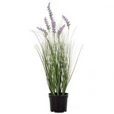 Umelá tráva v črepníku 60 cm: Levanduľa