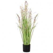 Umelá tráva v črepníku 78 cm + kvety