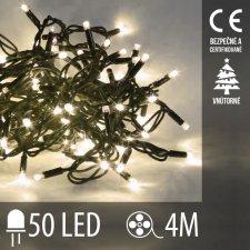Vianočná LED svetelná reťaz vnútorná - 50LED - 4M Teplá Biela