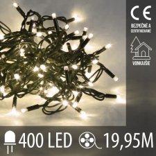Vianočná LED svetelná reťaz vonkajšia - 400LED - 19,95M Teplá biela