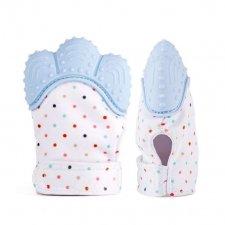 Silikónová rukavica – hryzadlo pre deti - modré