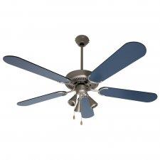 Stropný ventilátor so svietidlom - 130cm - 60W - modrá, čierna