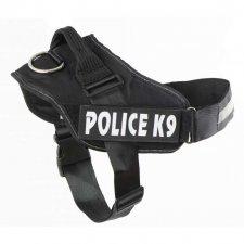 Postroje na psa M: Police K9 – 55-66cm - čierna